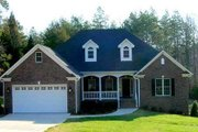 European Style House Plan - 4 Beds 2 Baths 1965 Sq/Ft Plan #17-1124 Exterior - Front Elevation