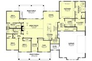 Craftsman Style House Plan - 4 Beds 3 Baths 2832 Sq/Ft Plan #430-201 Floor Plan - Main Floor