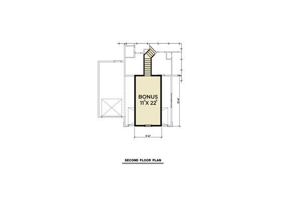Craftsman Floor Plan - Upper Floor Plan Plan #1070-75