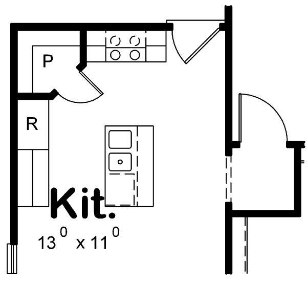 Dream House Plan - Optional Kitchen