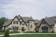 European Style House Plan - 4 Beds 6 Baths 9032 Sq/Ft Plan #458-2 Exterior - Front Elevation