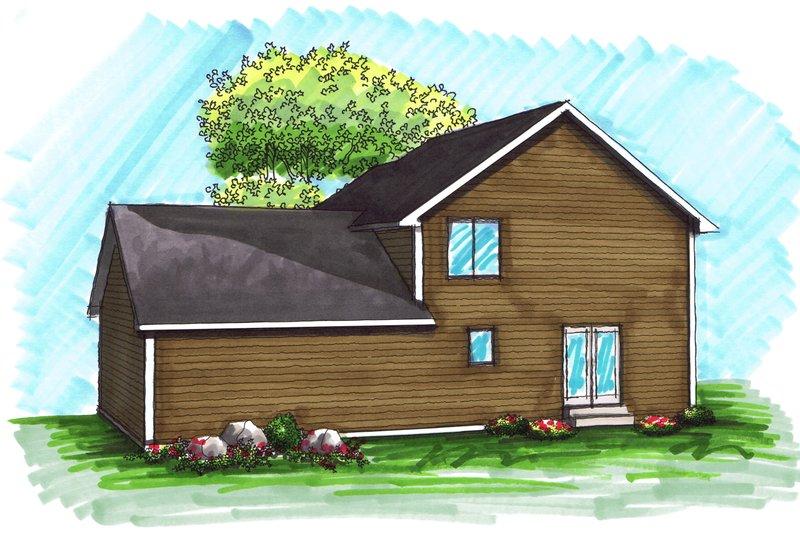 Traditional Exterior - Rear Elevation Plan #70-1028 - Houseplans.com