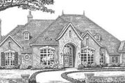 European Style House Plan - 4 Beds 3.5 Baths 3494 Sq/Ft Plan #310-335 Exterior - Front Elevation