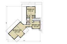 Farmhouse Floor Plan - Upper Floor Plan Plan #1070-10