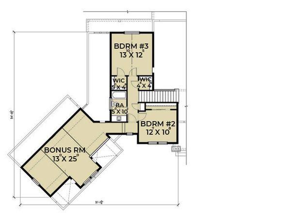 Farmhouse Floor Plan - Upper Floor Plan #1070-10