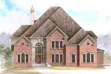 Colonial Exterior - Front Elevation Plan #119-121