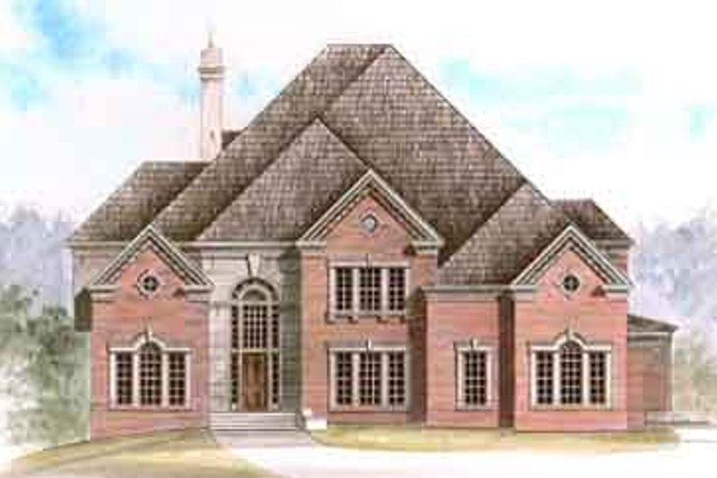 Colonial Exterior - Front Elevation Plan #119-121 - Houseplans.com