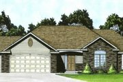 Traditional Style House Plan - 3 Beds 2.5 Baths 1508 Sq/Ft Plan #58-165 Exterior - Front Elevation