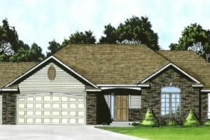 Home Plan - Traditional Exterior - Front Elevation Plan #58-165