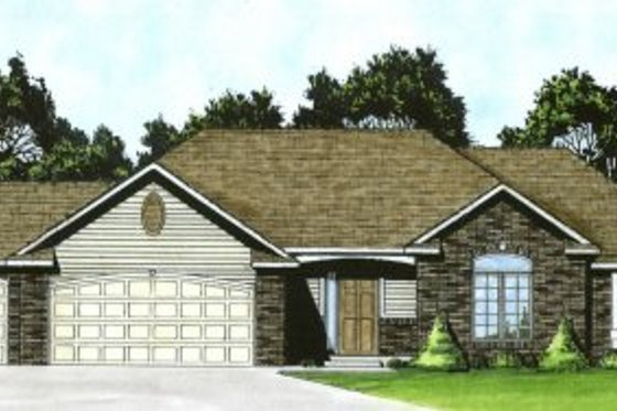 Traditional Exterior - Front Elevation Plan #58-165
