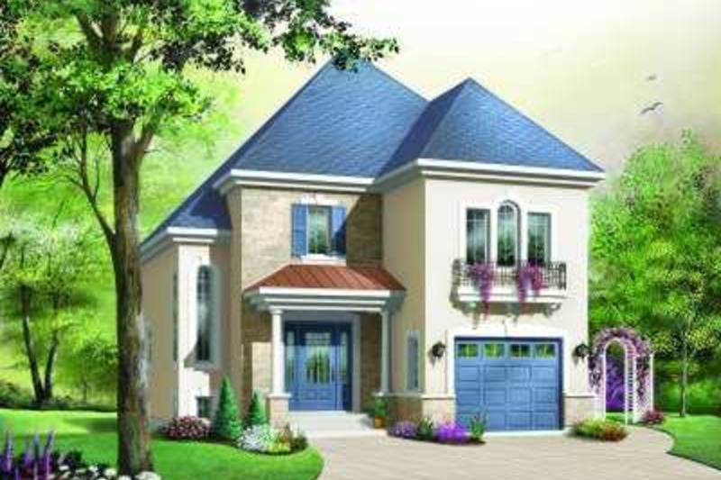 European Exterior - Front Elevation Plan #23-374 - Houseplans.com