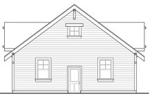 Dream House Plan - Traditional Exterior - Other Elevation Plan #124-1054