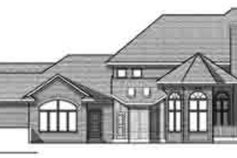 European Exterior - Rear Elevation Plan #70-853 - Houseplans.com