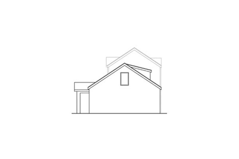 Cottage Exterior - Rear Elevation Plan #124-868 - Houseplans.com