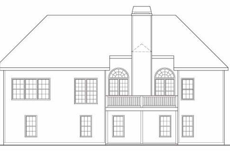 Traditional Exterior - Rear Elevation Plan #419-111 - Houseplans.com