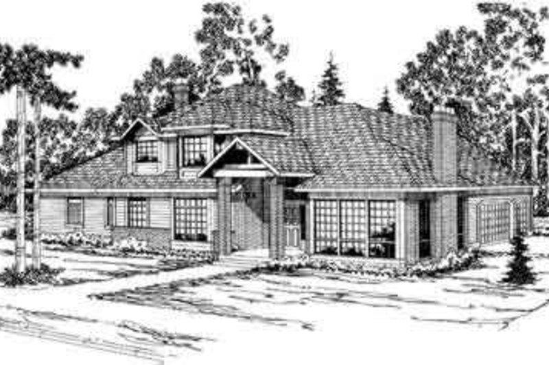Home Plan - Modern Exterior - Front Elevation Plan #124-325