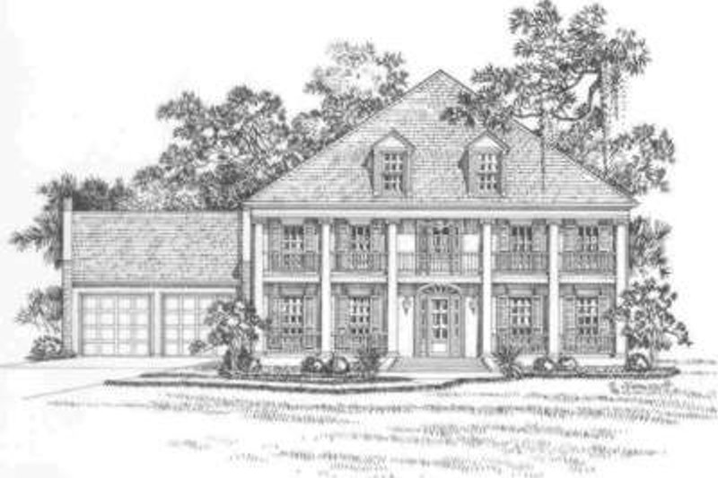 Southern Exterior - Front Elevation Plan #325-266
