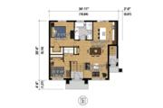 Contemporary Style House Plan - 3 Beds 2 Baths 2022 Sq/Ft Plan #25-4400 Floor Plan - Main Floor Plan