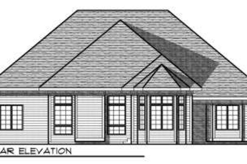 European Exterior - Rear Elevation Plan #70-729 - Houseplans.com