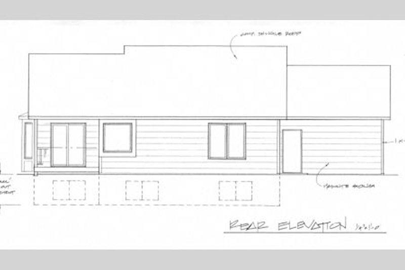 Craftsman Exterior - Rear Elevation Plan #58-210 - Houseplans.com