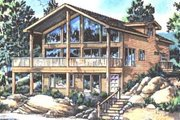 Contemporary Style House Plan - 1 Beds 1.5 Baths 1345 Sq/Ft Plan #18-231 Exterior - Front Elevation
