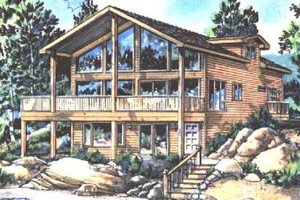 Home Plan - Contemporary Exterior - Front Elevation Plan #18-231
