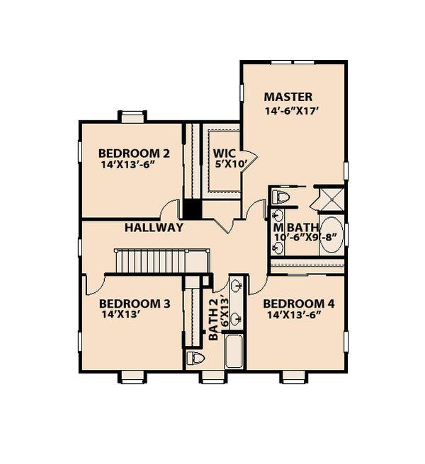 Traditional Floor Plan - Upper Floor Plan Plan #515-15