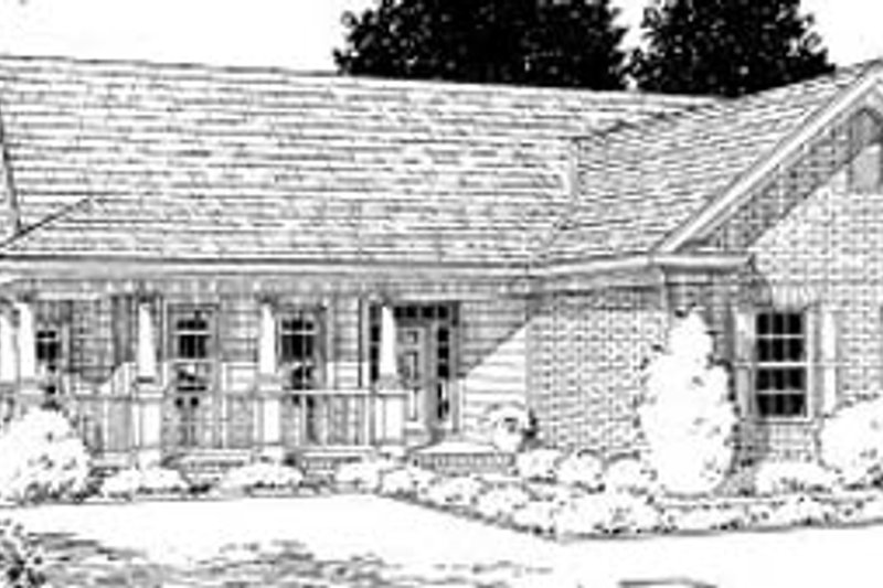 Home Plan - Traditional Exterior - Front Elevation Plan #20-186