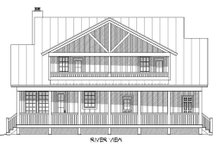 Country Exterior - Rear Elevation Plan #932-14