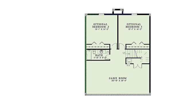 Craftsman Floor Plan - Lower Floor Plan #17-2399