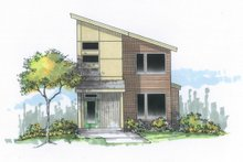 Home Plan - Contemporary Exterior - Front Elevation Plan #53-618