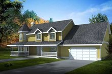 Home Plan - Victorian Exterior - Front Elevation Plan #100-222