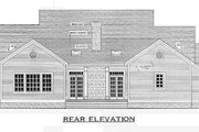 Southern Style House Plan - 3 Beds 2.5 Baths 1955 Sq/Ft Plan #406-285 Exterior - Rear Elevation