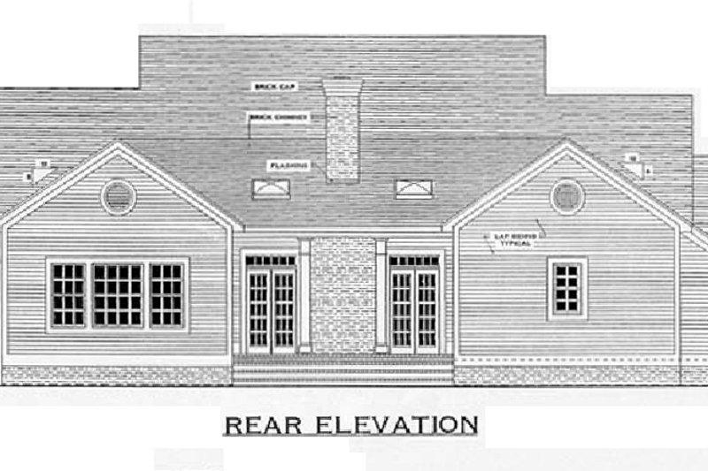 Southern Exterior - Rear Elevation Plan #406-285 - Houseplans.com