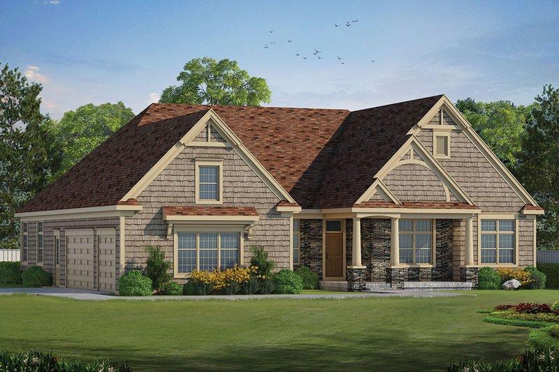 House Plan Design - Ranch Exterior - Front Elevation Plan #20-2288