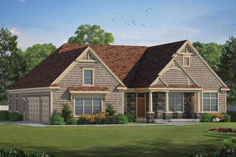Architectural House Design - Ranch Exterior - Front Elevation Plan #20-2288