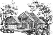 European Style House Plan - 4 Beds 2.5 Baths 2056 Sq/Ft Plan #310-190 Exterior - Front Elevation