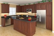 Southern Style House Plan - 3 Beds 2.5 Baths 1903 Sq/Ft Plan #21-255 Interior - Kitchen