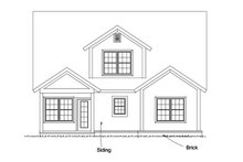 Architectural House Design - Craftsman Exterior - Rear Elevation Plan #513-2169