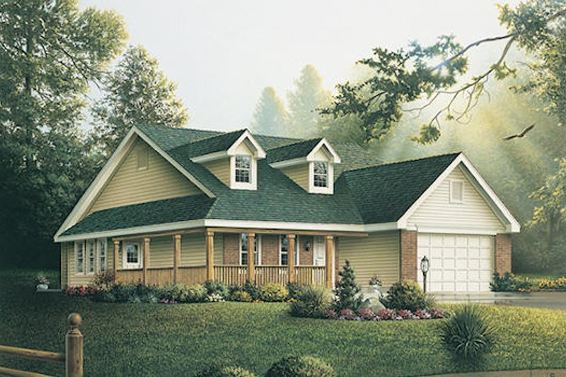 Ranch Exterior - Front Elevation Plan #57-252