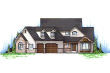 Country Exterior - Front Elevation Plan #5-181