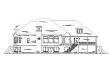 Dream House Plan - European Exterior - Rear Elevation Plan #5-223
