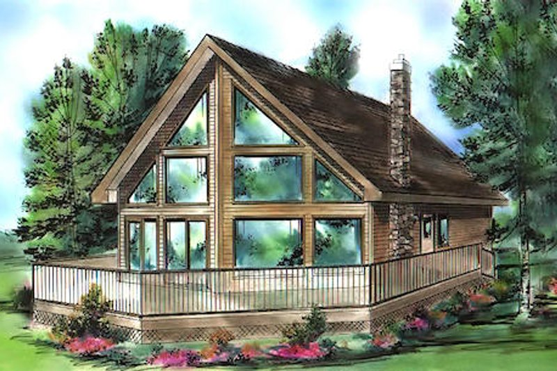 Contemporary Exterior - Front Elevation Plan #18-294 - Houseplans.com