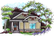 Dream House Plan - Ranch Exterior - Front Elevation Plan #70-1024