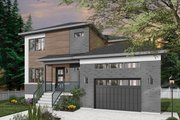 Contemporary Style House Plan - 4 Beds 2.5 Baths 2105 Sq/Ft Plan #23-2706