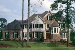 Dream House Plan - European Exterior - Front Elevation Plan #429-10