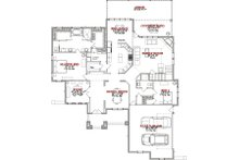 European Floor Plan - Main Floor Plan Plan #63-347