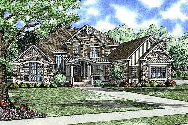 Architectural House Design - European Exterior - Front Elevation Plan #17-2144