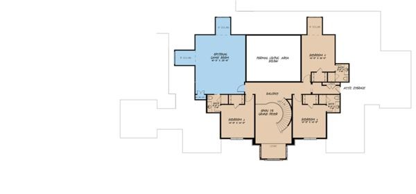 European Floor Plan - Upper Floor Plan Plan #923-98