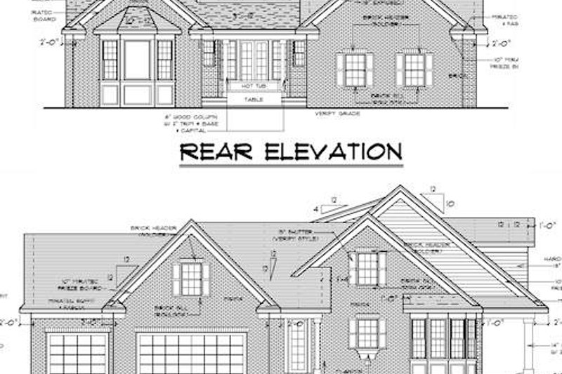 Traditional Exterior - Other Elevation Plan #51-352 - Houseplans.com